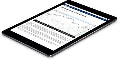Sentiment Timing Newsletter on the iPad